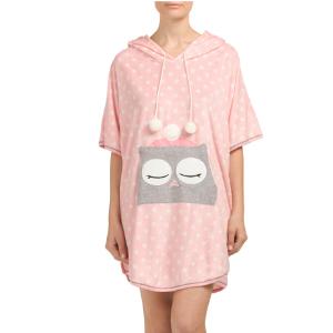 Owl Critter Poncho Sleep Shirt