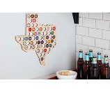 Beer Cap Maps of 49 States