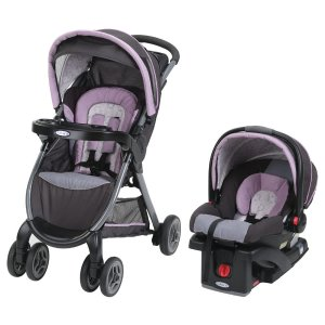 Graco FastAction Fold Click Connect Travel System - Janey - Graco - Babies