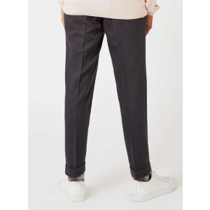 TOPMAN PREMIUM Charcoal Cropped Dress Pants - New This Week - New In - TOPMAN USA