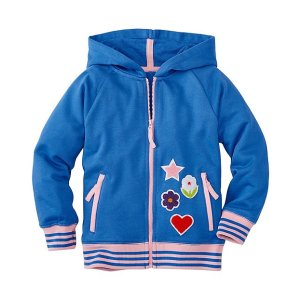 Girls Chenille Patch Hoodie In 100% Cotton | Sale 20% Off New Arrivals Girls