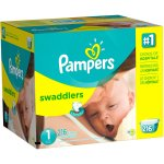 Pampers Swaddlers Diapers, Size 1, 216 Diapers
