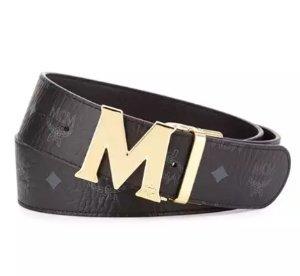 MCM M-Buckle Monogram Belt @ Bergdorf Goodman