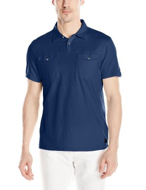Calvin Klein Jeans Men's Feeder Stripe Polo Shirt