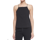 T by Alexander Wang Square-Neck Silk Camisole Top