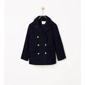 Nautical three quarter length coat - Outerwear-STARTING FROM 50% OFF-GIRL | 4-14 years-KIDS-SALE | ZARA United States