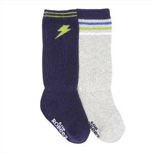 Boy Power Baby Boot Socks, 2 Pack | Robeez