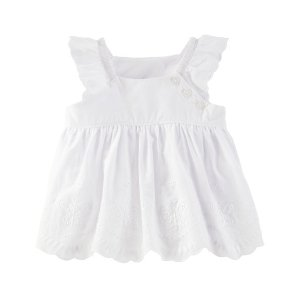 Baby Girl Scalloped Eyelet Babydoll Top | OshKosh.com