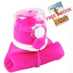 ITYYT Silicone Collapsible Water Bottle 26oz with Free E-book
