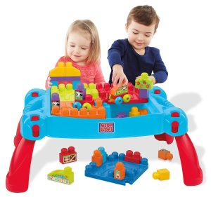 Prime Member Only! Mega Bloks First Builders Build 'n Learn Table Building Set