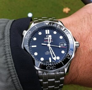 Omega Seamaster Black Dial Automatic Steel Men's Watch 212.30.41.20.01.003