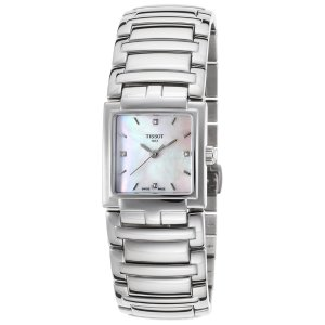 Tissot T0513101111600 Watches,Women's T-Evocation Diamond Stainless Steel MOP Dial Stainless Steel, Dress Tissot Quartz Watches