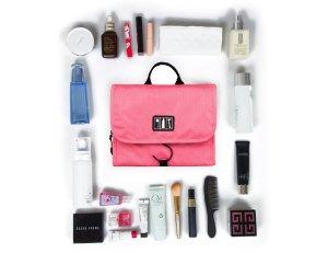 BAGSMART Hanging Toiletry Kit Travel Bag Cosmetic Carry Case Makeup Organizer