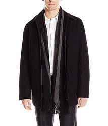 $73.50 Calvin Klein Men's Wool Scarf Coat