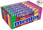 $7.3 Mentos Rolls, Rainbow, 1.32 Ounce (Pack of 15)