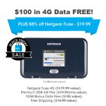 Netgear Fuse Hotspot (Pre-Owned) + 10GB Bonus Data Free