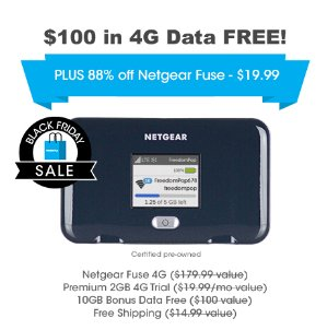 $19.99Netgear Fuse Hotspot (Pre-Owned) + 10GB Bonus Data Free
