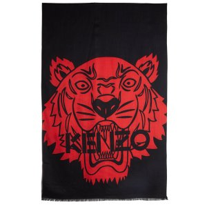 KENZO Women's Iconics Tiger Chest Scarf - Black/Red - Free UK Delivery over £50
