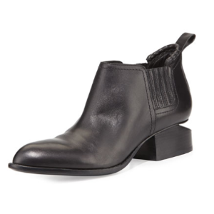 Alexander Wang Kori Leather Tilt-Heel Boot, Black