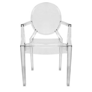 Xandra Arm Chair, Clear - Dining Room - Furniture