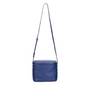 NAVY PEBBLE LEATHER LARGE STOWAWAY