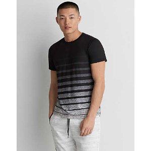 AE Active Stripe Crew T-Shirt, Black
