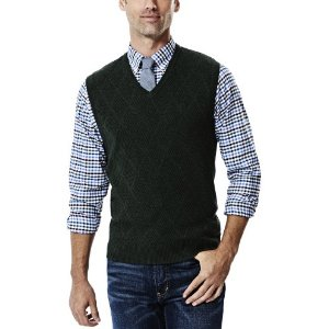 Diamond Textured Sweater Vest