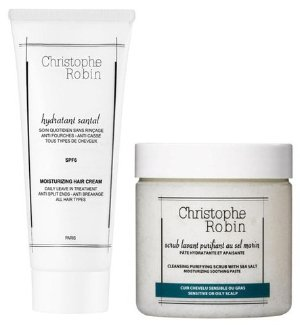 Buy 2 Get 25% Off Christophe Robin Cleansing Purifying Sea Salt Scub (250ml) and Moisturizing Hair Cream (100ml)