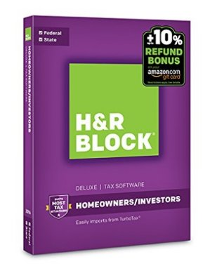 Up to 56% OffH&R Block 2016 Tax Software @ Amazon.com