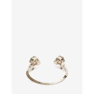 Brass Twin Brace Star Dust Bracelet | Alexander McQueen