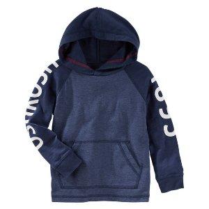 Toddler Boy Hooded Raglan Logo Tee | OshKosh.com