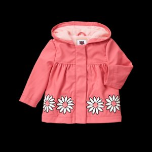 Toddler Girls Bright Pink Daisy Raincoat by Gymboree