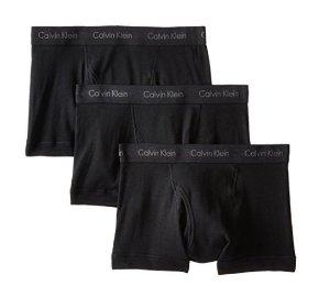 Calvin Klein Men's 3-Pack Cotton-Stretch Low-Rise Boxer Briefs