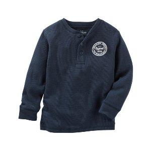 Toddler Boy Thermal Logo Henley | OshKosh.com