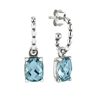 Rue La La — PANDORA Silver Blue Topaz Earrings