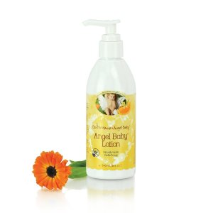 Earth Mama Angel Baby Lotion, Contains Organic Calendula & Shea Butter, Natural Orange Vanilla Scent, 8 fl. oz