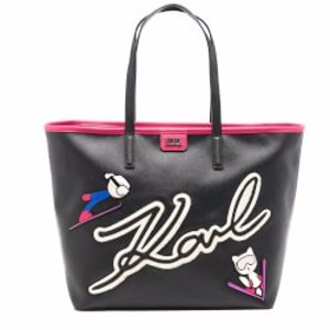 Karl Lagerfeld Women's Ski Holiday Shopper Bag - Black