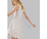 Monochrome jacquard skater dress - Pink | Dresses | Ted Baker