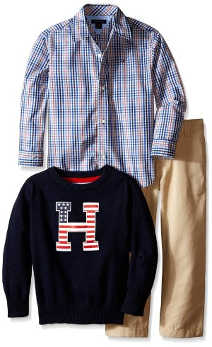 $13.05 Tommy Hilfiger Little Boys' Gavin 3 Piece Set 2T