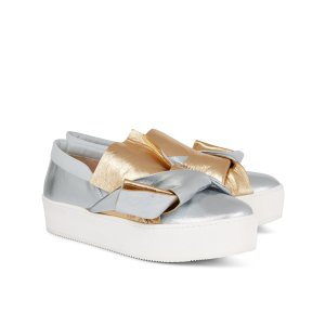 Metallic Bow Slip-On Sneakers | No21 | Avenue32