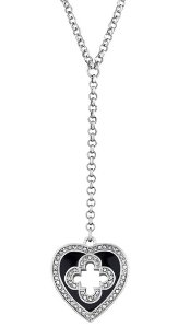 Heart Drop Necklace with Swarovski Crystals