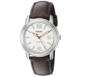 Fossil FSW1004 Swiss FS-5 Series Automatic Leather Watch Brown