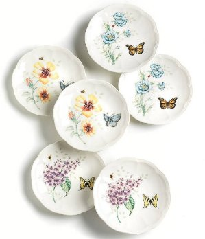 Lenox Butterfly Meadow Party Plates, Set of 6 @ Amazon