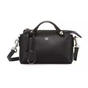 Fendi By The Way Mini Leather Satchel Bag, Black