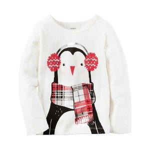 Baby Girl Long-Sleeve Penguin Tee | Carters.com