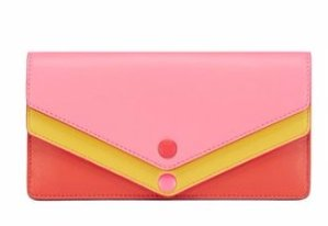 AVERY TRI-COLOR ENVELOPE CONTINENTAL WALLET @ Tory Burch