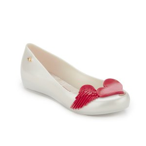 Vivienne Westwood for Melissa Women's Ultragirl 16 Ballet Flats - Pearl Red Cherub - FREE UK Delivery