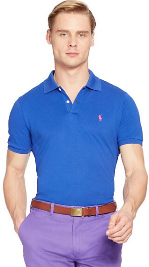 Custom-Fit Stretch Mesh Polo