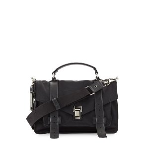 Proenza Schouler PS1 Medium Nylon Crossbody Bag, Black