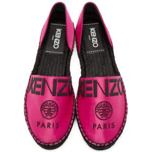 Kenzo: Pink Logo Cut Out Espadrilles | SSENSE